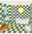 cartoon bathroom vector image