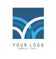 Abstract sign icon vector image
