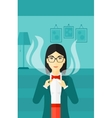 Woman quit smoking vector image