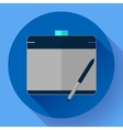 Graphic tablet icon CG artist and Designer symbol vector image