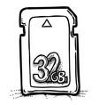 cartoon image of memory card vector image