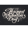 happy Valentines day handwritten inscription vector image
