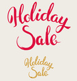 Holiday Sale Hand Drawn Lettering vector image