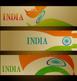set of indian flag headers vector image