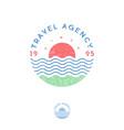 travel agency logo tourism sea sun vector image