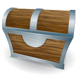 treasure old chest closed vector image