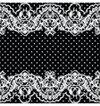 White vintage Lace Crochet pattern vector image