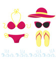 female outfit for a holiday at sea set of clothes vector image