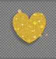 big shiny heart vector image