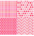 seamless geometric pink pattern vector image vector image