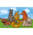 cute dogs group cartoon vector image vector image