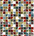 Abstract mosaic seamless background vector image vector image