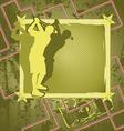 golf vintage frame vector image vector image