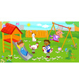 children at the playground vector image