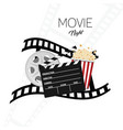 cinema and movie night background one vector image