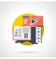 Cinema brochure color detailed icon vector image