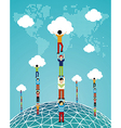 Cloud computing global success vector image