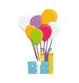cute balloons air party card vector image