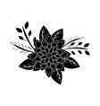 flower floral natural decoration stem leaves vector image