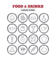 Food and Drinks icon Beer coffee and cocktail vector image