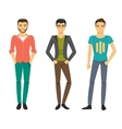Men in fashionable clothes vector image