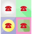 service flat icons 14 vector image