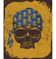 skull with bandana vector image