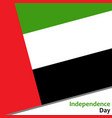 United arab emirates independence day vector image