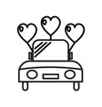 wedding car line icon sign vector image