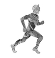Zentangle stylized Runner Hand Drawn Man doodle vector image