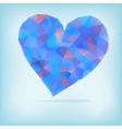 Retro heart made from color triangles  EPS8 vector image vector image