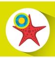 vacation around world sunny starfish vector image