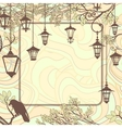 Vintage background with tree branches and retro vector image