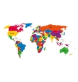 Multi-colored political map of World with vector image