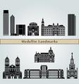 medellin landmarks vector image vector image