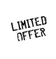 limited offer rubber stamp vector image
