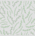 seamless pattern with green twigs on background vector image