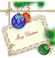 background for Christmas greetings invitation or vector image