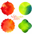 Watercolor frames templates vector image
