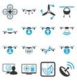 Quadcopter service icon set vector image