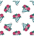 Bouquet of roses Seamless pattern with flowers on vector image vector image