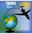 aircratf and globus vector image