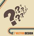 flow questions design vector image