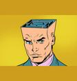 head maze man thinks vector image