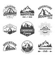 rocky winter mountains landscape as signs or icons vector image