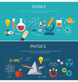 science and physics education concept vector image