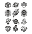 Set casino badge vector image