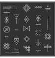 Set of geometric hipster shapes 9711black vector image