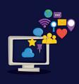 social media symbol vector image