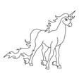 the outline of the unicorn vector image